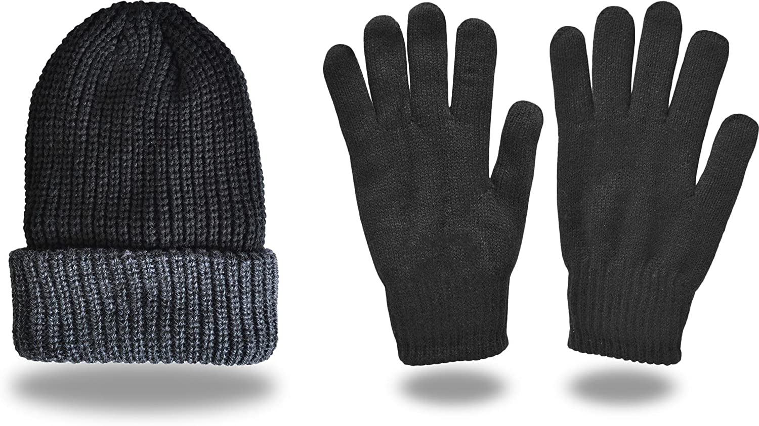 EXTREM WARMES Thermo-Set, Handschuhe + Mütze, hoher TOG-Isolationswert 2,3 [S-XL]