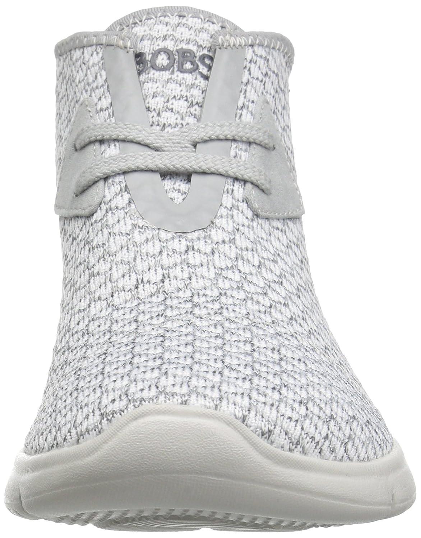 Skechers BOBS from Women's Pureflex 2-Knockoutz Flat B005AEFOJ8 8 B(M) US|White/Gray