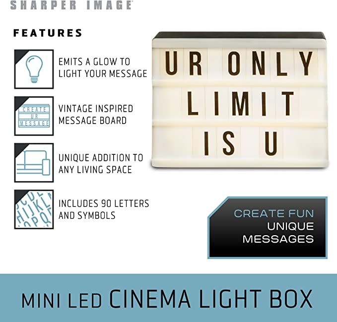 Amazon.com: Sharper Image Mini Cinematic Light Up Box LED ...