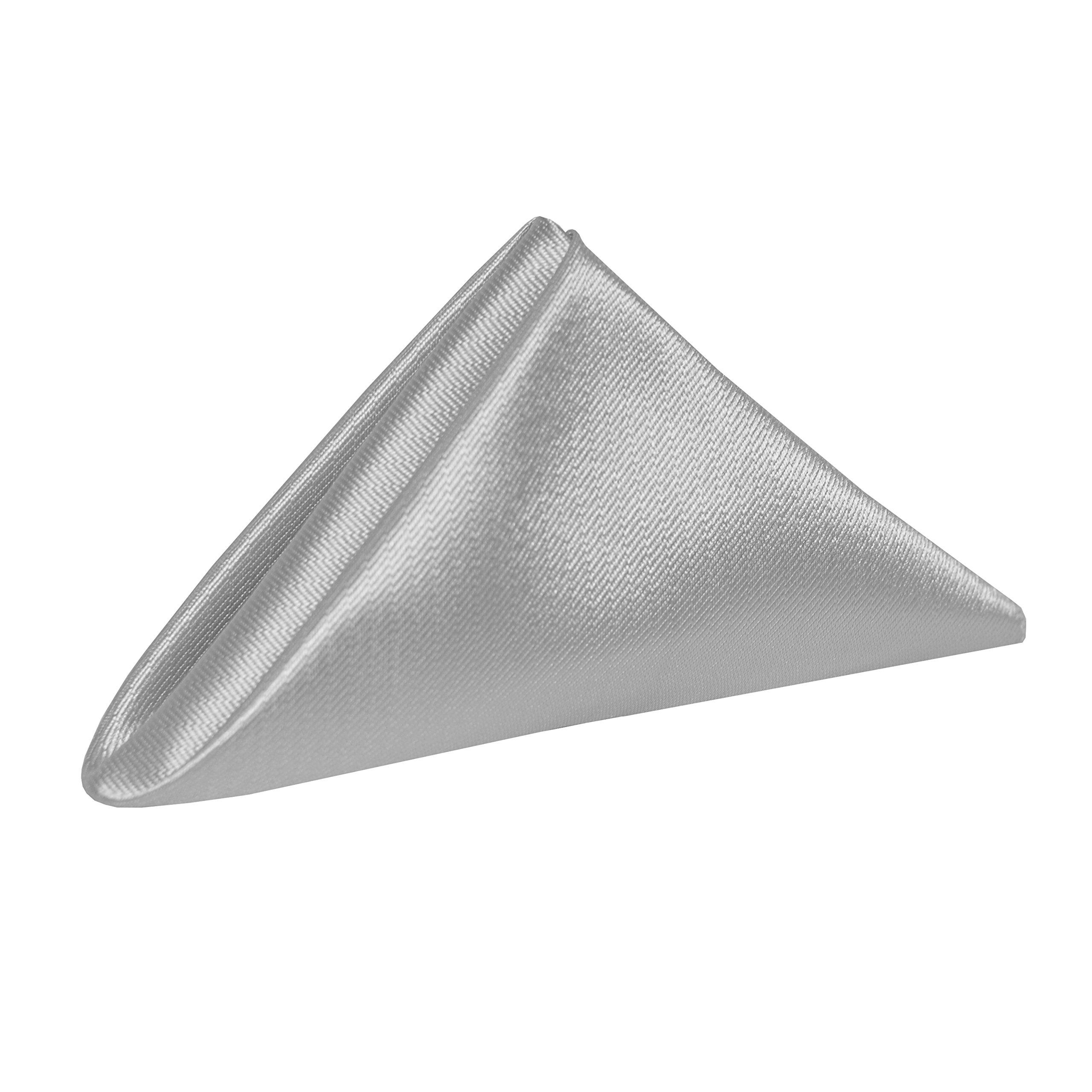 Ultimate Textile (10 Dozen) Herringbone - Fandango 20 x 20-Inch Napkins, Silver Grey