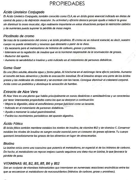 Quemagrasas Adelgazante- LipoExpress Body Perfect. CLA ...