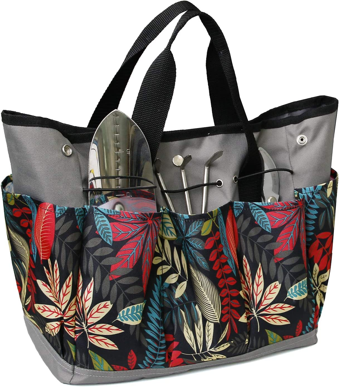 Garden Tote Bag with Pockets for Tools, Garden Tool Organizer Bag for Women/Men Gardening Tote