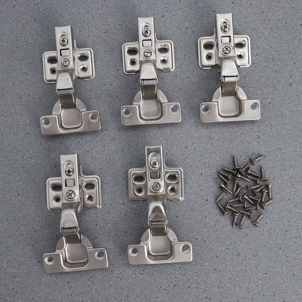 OUNONA 5 Stück Küchen Scharnier 1,2mm Eckanschlag Scharnier ...
