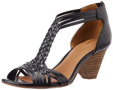 Clarks Women's Ranae Monique Black Leather Fashion Sandals ...
