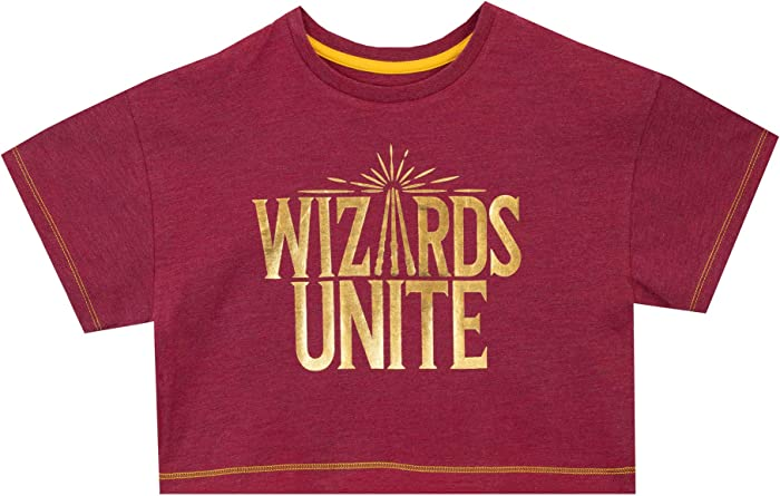 HARRY POTTER Camiseta de Crop de Manga Corta para Niñas Wizards Unite: Amazon.es: Ropa y accesorios