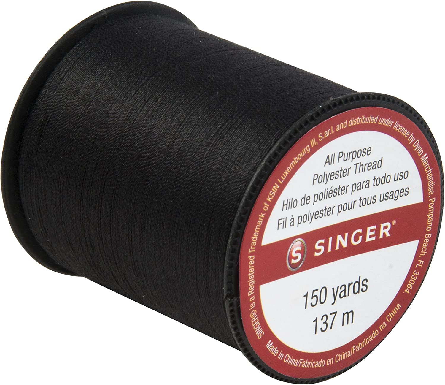 SINGER60110All Purpose Polyester Thread 150 yards Black