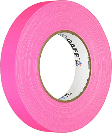 """ProTapes Pro Gaff NEON GAFFERS TAPE 5 Color Pack 2/"""" x 50 yd Roll"""