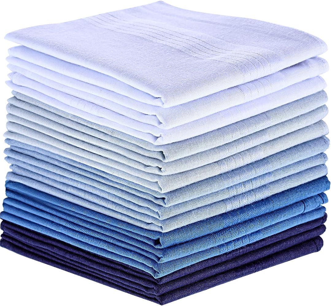 15 Piezas de Pañuelo de Algodón Pañuelo de Bolsillo Cuadrado Grande para Hombres (Multicolor-1): Amazon.es: Ropa y accesorios