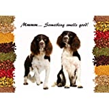 Springer Spaniel Dog Beautiful and Unique Gift - Toughened Glass Chopping Board / Decorative Cheese Board. Work top protector, non-slip, Heat Resistant. Size 28 x 20 cms