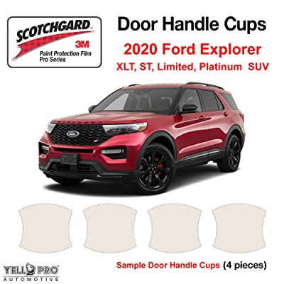 YelloPro Custom Fit Door Handle Cup 3M Scotchgard Anti Scratch Clear Bra Paint Protector Film Cover Self Healing PPF Guard Kit for 2020 Ford Explorer XLT, ST, Limited, Platinum SUV: Automotive