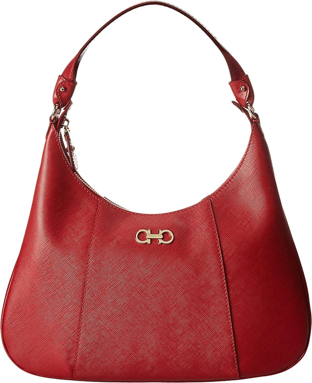 Salvatore Ferragamo 21E379 Petunia Rosso Hobo Handbags