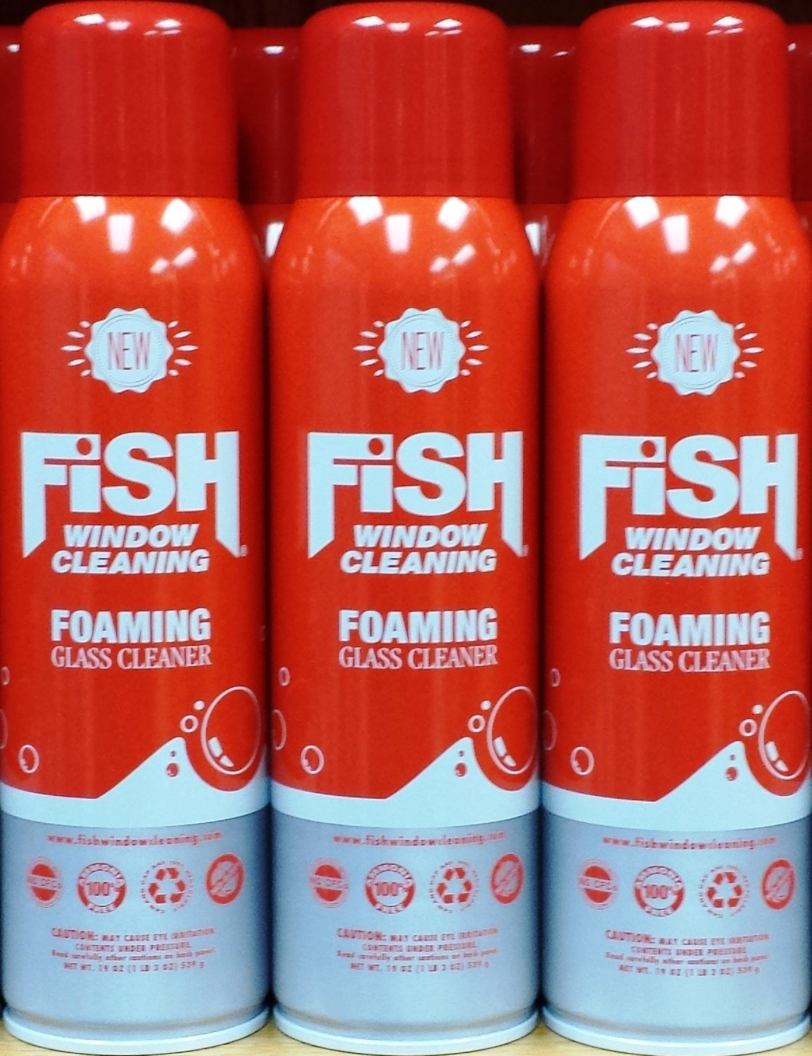 Fish Window Cleaning Foaming Glass Cleaner 3-Pack
