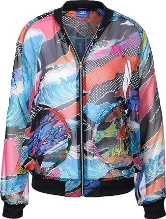 Penetrar Irradiar tierra  Amazon.com: adidas Originals para mujer California playa, surf, gasa de  Track parte superior para hombre, S, Multicolor: Clothing