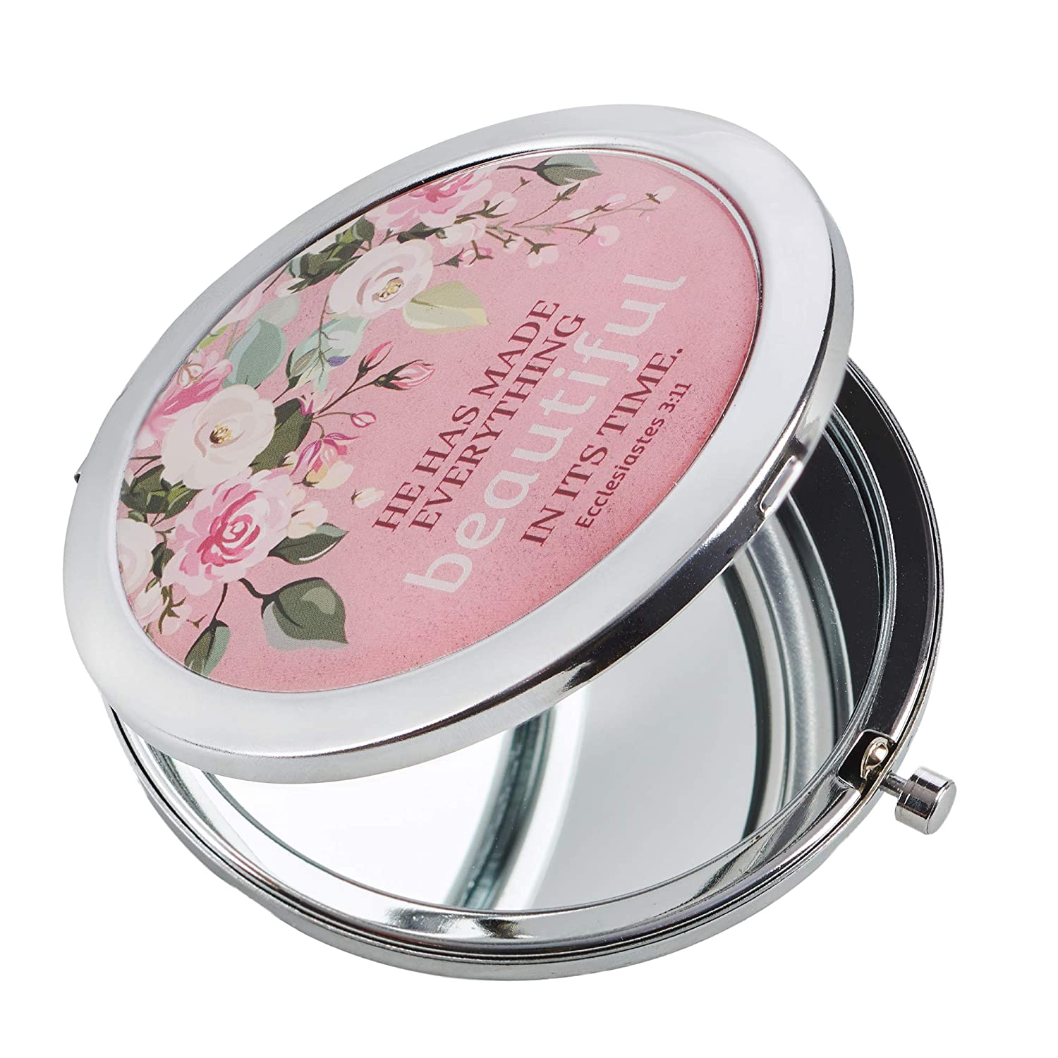 He Has Made Everything Beautiful Folding Compact Mirror 2x Magnification Ultra Portable for Purses Travel- Ecclesiastes 3 11 Bible Verse, Inspirational Gift Women Ladies Retreats Weddings Showers