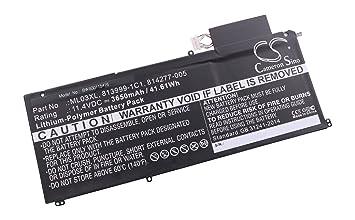 vhbw Litio polímero batería 3650mAh (11.4V) Negro para Ordenador portátil Laptop Notebook HP