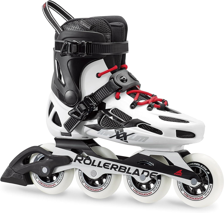 Rollerblade Maxxum 90 Unisex Adult Fitness Inline Skate, Black and White, Premium Inline Skates