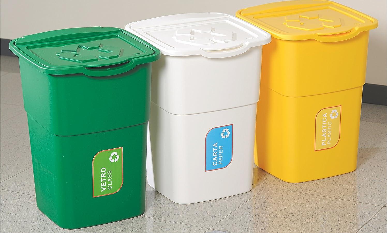 XL DEA Home Recycling-Set 3-teilig #Z434-3 x 50 Liter Inhalt beliebig erweiterbar