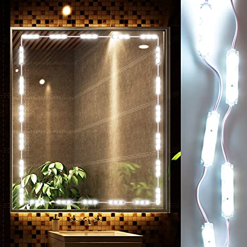Caxmtu led mirror lights hollywood style makeup table light dressing led vanity mirror lights kit ollny dimmable lighting fixture strip stick on for makeup vanity table aloadofball Image collections