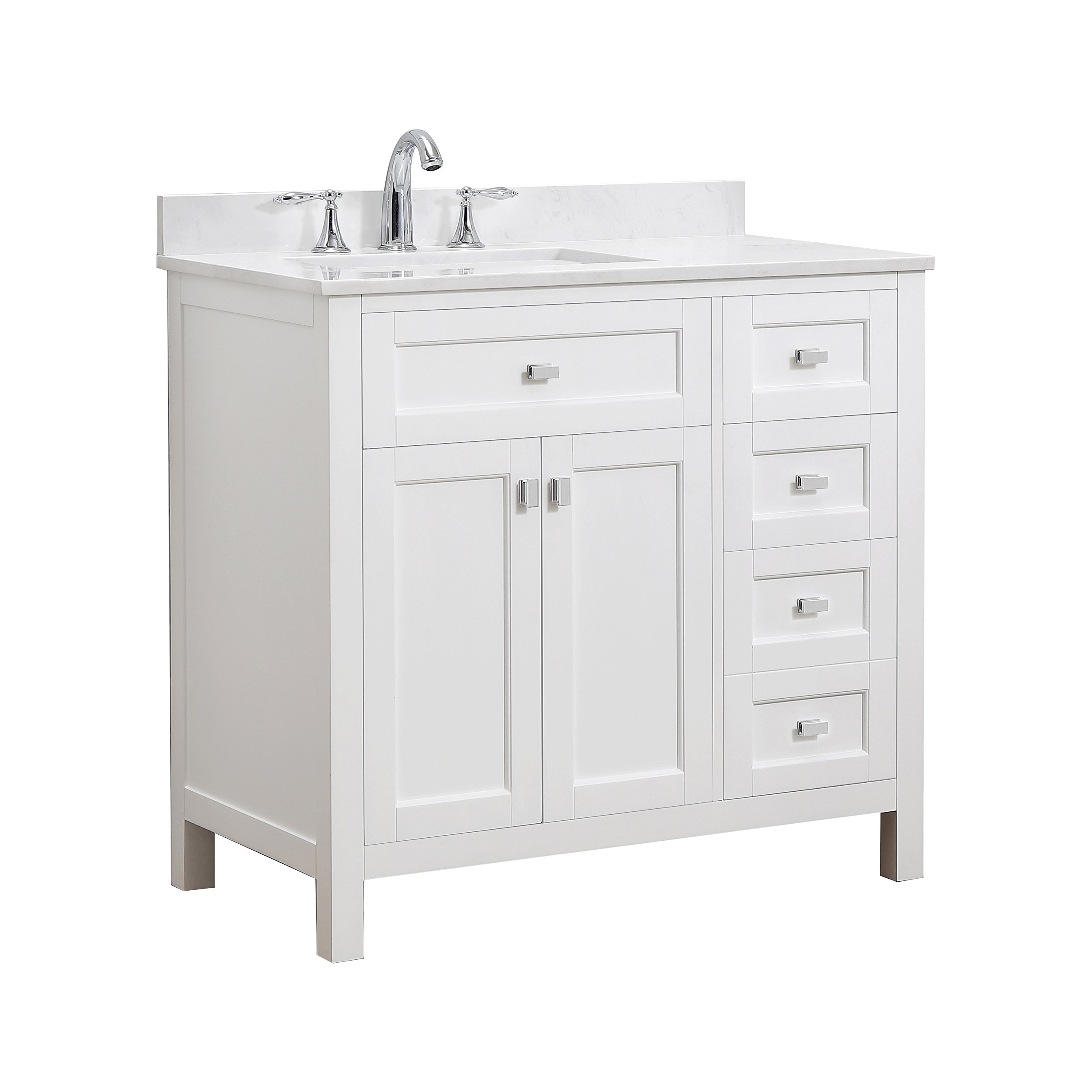 CAHABA CA101010 Juniper Collection Vanity with Top, White Vanity/White Top/White Basin by CAHABA (Image #1)