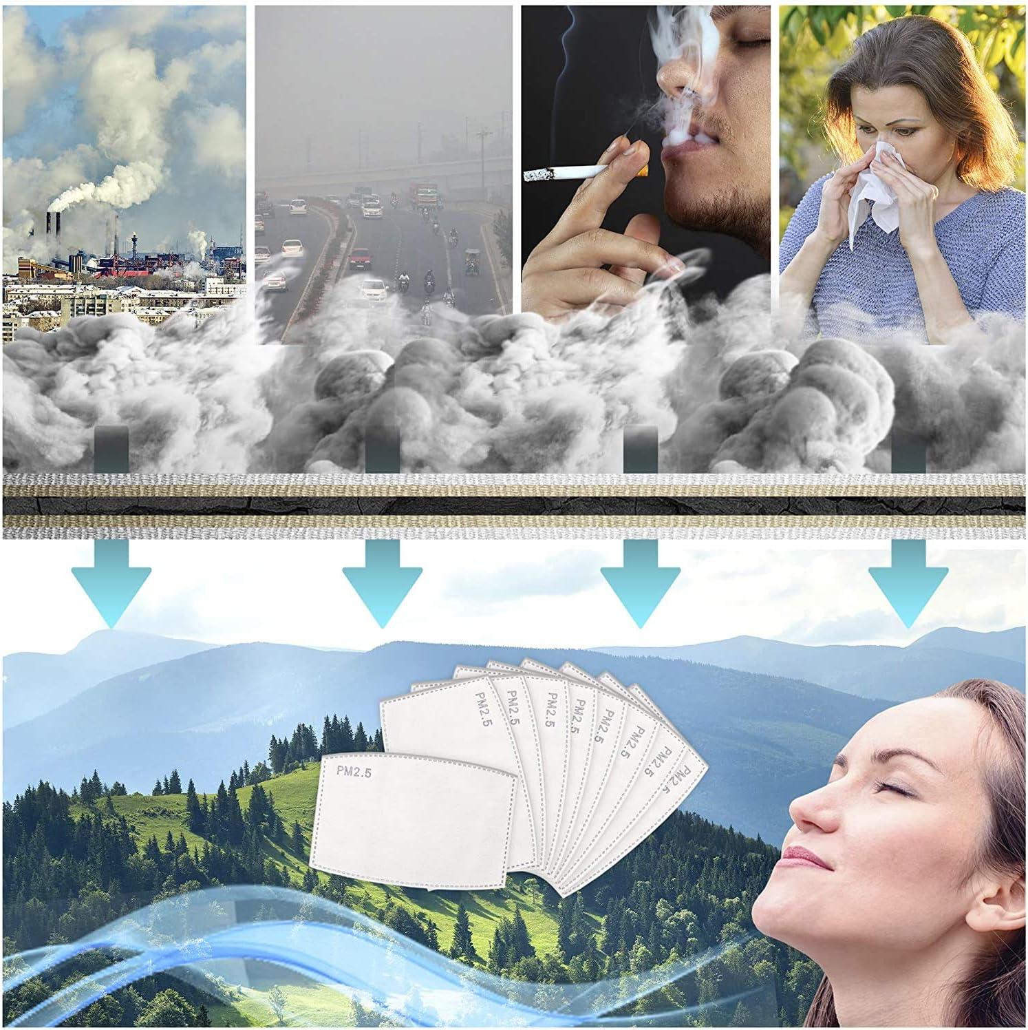 O/³ Filtre Charbon pour Masque-30 Filtres pour Masque en tissu Lavable