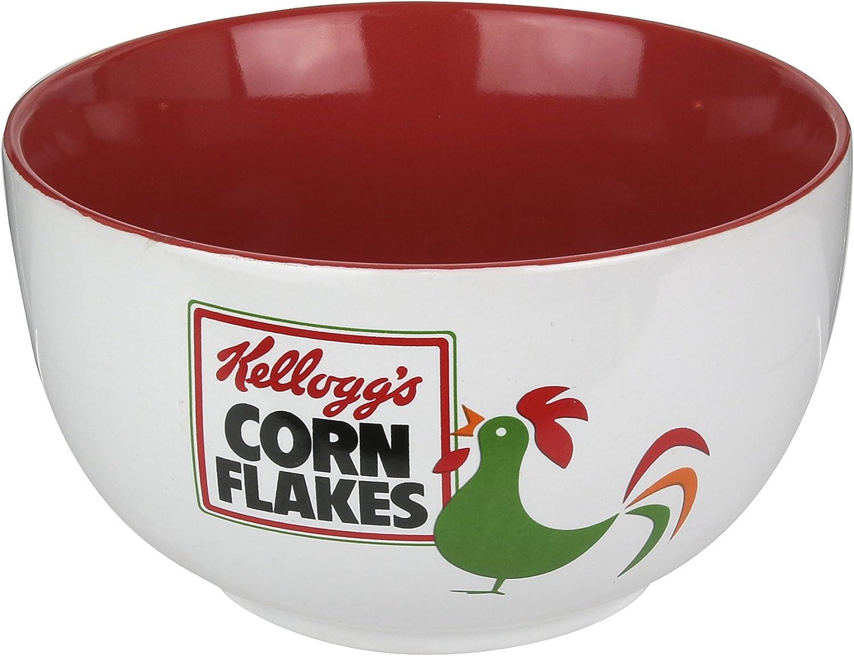 blanc rouge céramique KELLOGG/'S KG30553 Cereal Bowl 14 x 14 x 8 cm