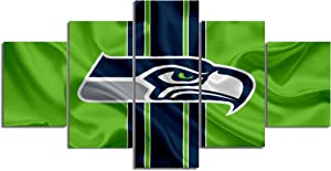 Seattle Seahawks Canvas Posters Home Decor Wall Art 5 Pieces Paintings for Living Room HD Prints Sports Pictures