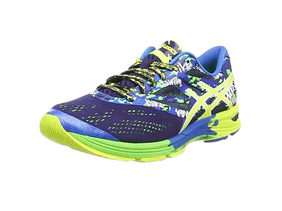 ASICS Gel-Noosa Tri 10, Zapatillas de Running Hombre^Mujer, Azul (Midnight/Flash Yellow/Flash Green 4907), 46 EU: Amazon.es: Zapatos y complementos