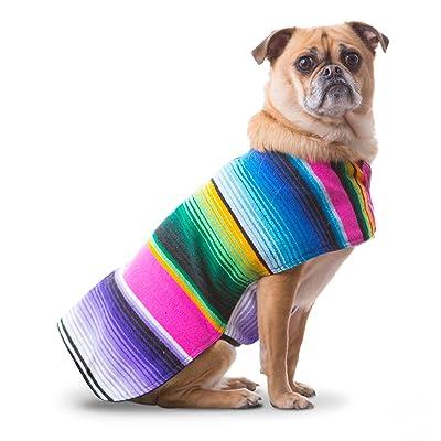 Baja Poncho Handmade Dog Poncho from Mexican Serape Blanket