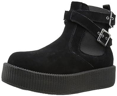 T.U.K Viva Hi Sole Creeper Mixte Chaussures Noir - 42 EU 3v6Q4YGN