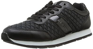Jim Rickey Ballistic Nylon Leather, Baskets mode homme - Noir (Black Quilted), 41 EU