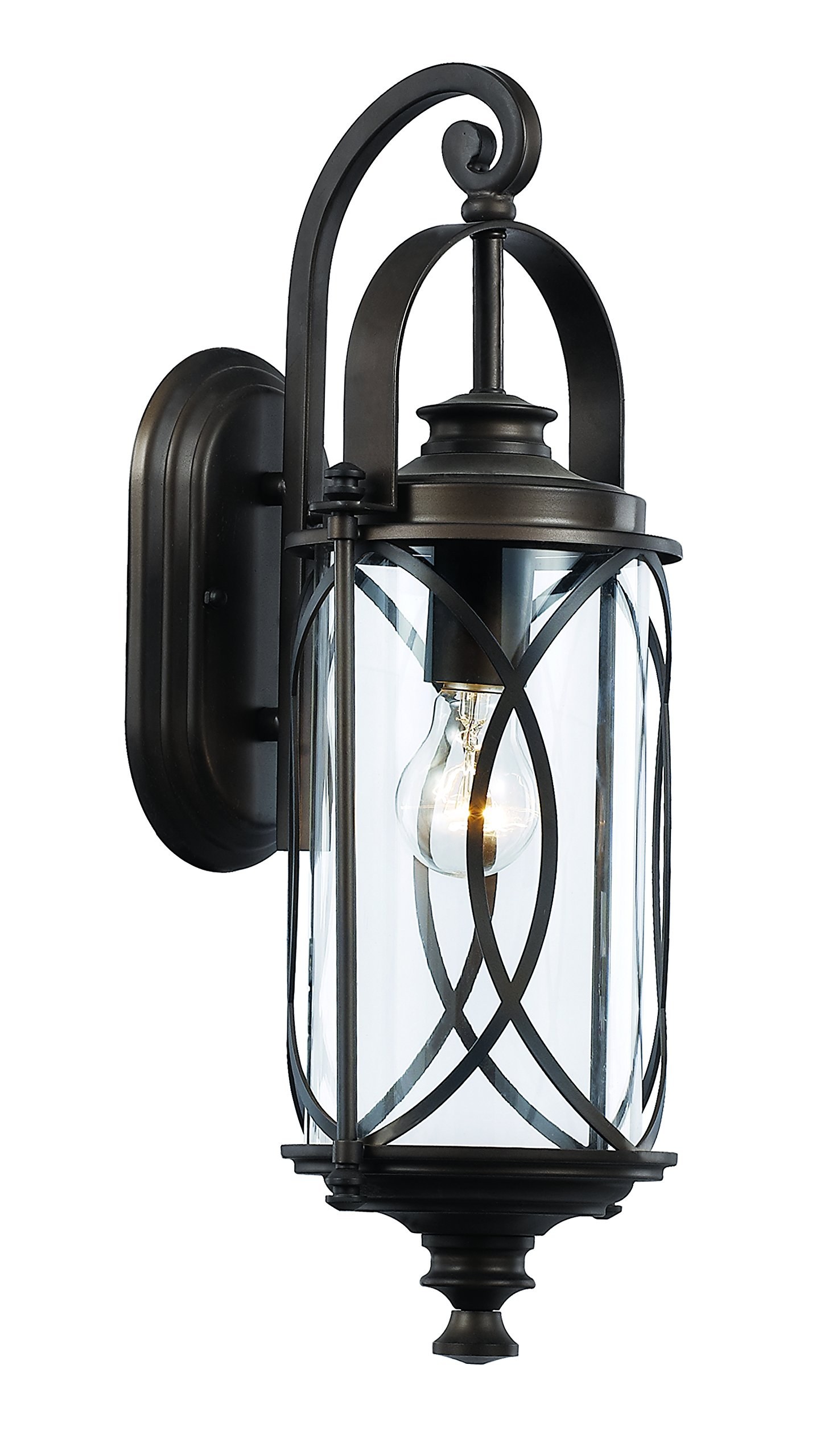 Trans Globe Lighting 40410 ROB Outdoor Fiesta 18.75'' Wall Lantern, Rubbed Oil Bronze