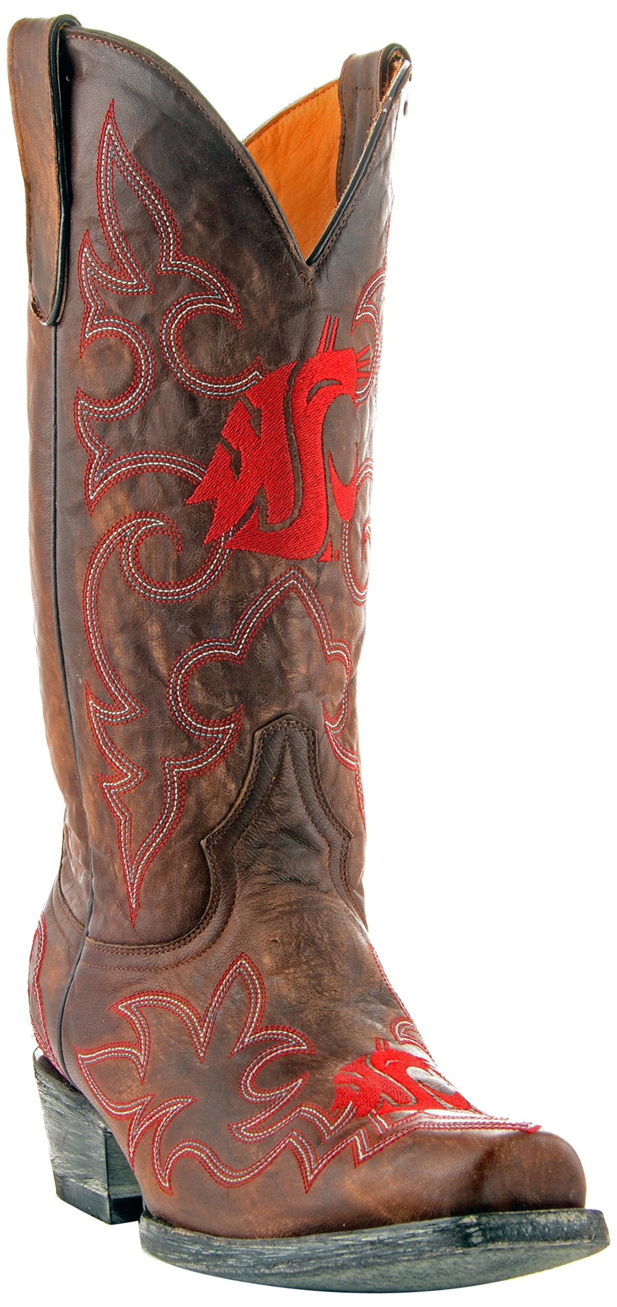 GAMEDAY BOOTS NCAA Washington State Cougars Men's, Brass, 11.5 D (M) US by GAMEDAY BOOTS