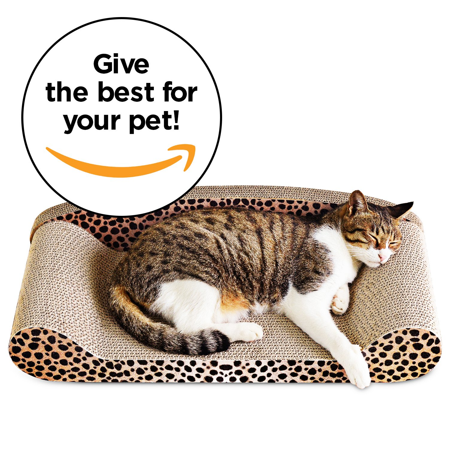 Animals Favorite Deluxe Cat Scratcher Corrugated (Sofa Cheetah) by Animals Favorite