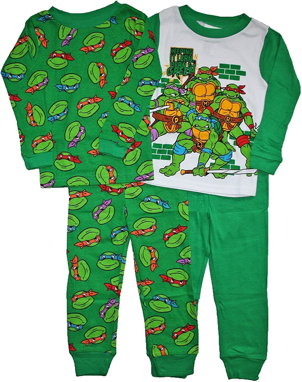 Boys Kids Official Teenage Mutant Ninja Turtles White Long Sleeve Pyjamas PJs