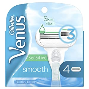 Gillette Venus Smooth Sensitive Women's Razor Blades - 4 Refills