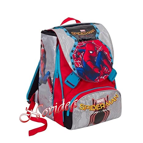 Seven – Mochila Escolar Spiderman Homecoming Extensible máscara de Regalo