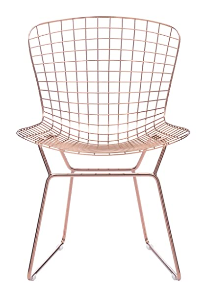 wire furniture. Zuo Modern Set Of 2 Wire Chairs, Rose Gold Furniture