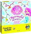 Creativity for Kids Mermaid Jewelry - String Mermaid Beads, Create 8 Jewelry Pieces - Great for Beginners
