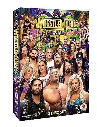 WWE: WrestleMania 34 [DVD] [Reino Unido]: Amazon.es: John Cena, Ronda Rousey, AJ Styles, Brock Lesnar, John Cena, Ronda Rousey: Cine y Series TV