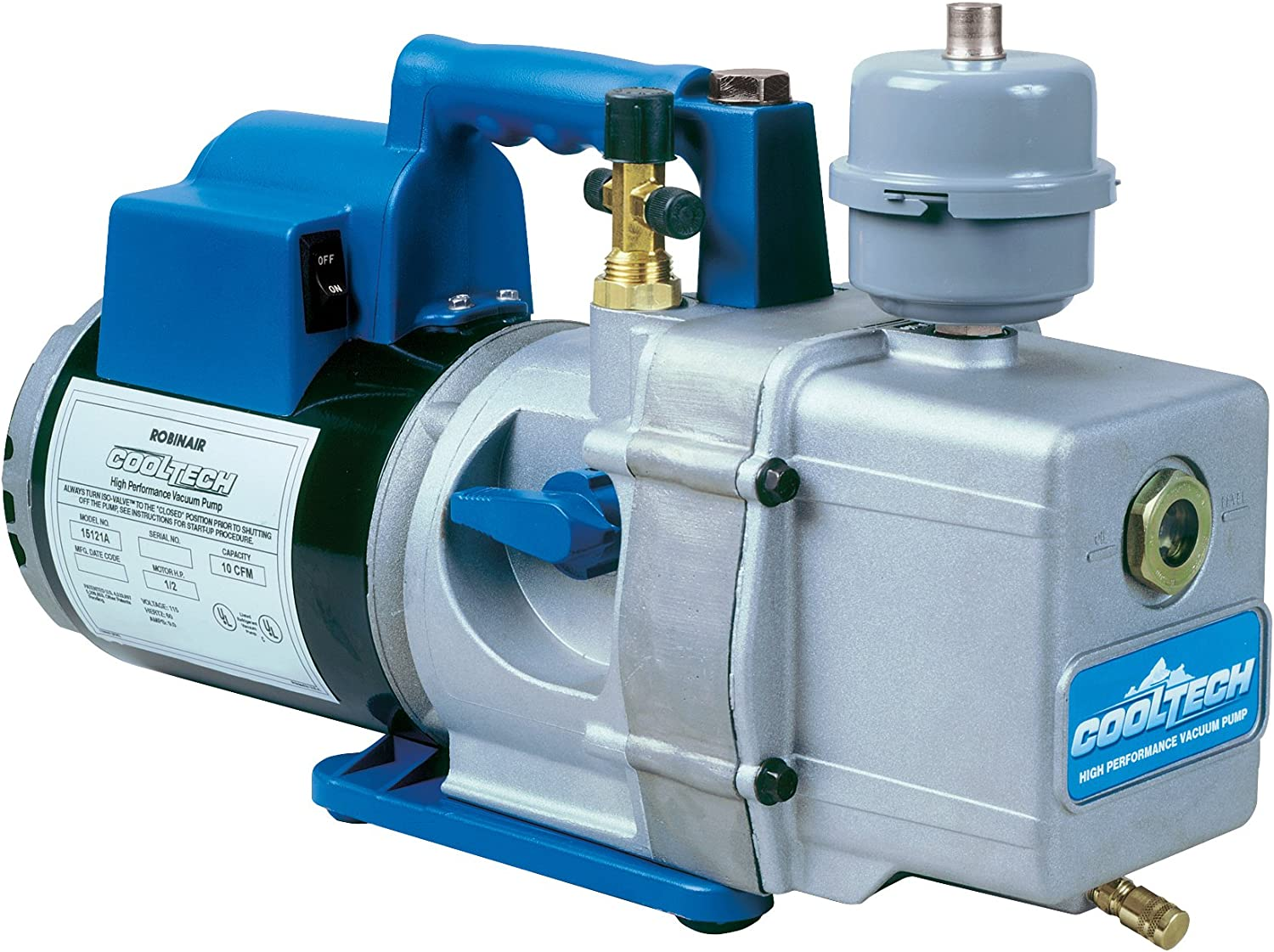 Robinair (15121A) CoolTech Vacuum Pump - 2-Stage, 236 liters/minute