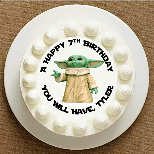 Wondrous Amazon Com Baby Alien Birthday Cake Topper Personalized Cake Funny Birthday Cards Online Sheoxdamsfinfo