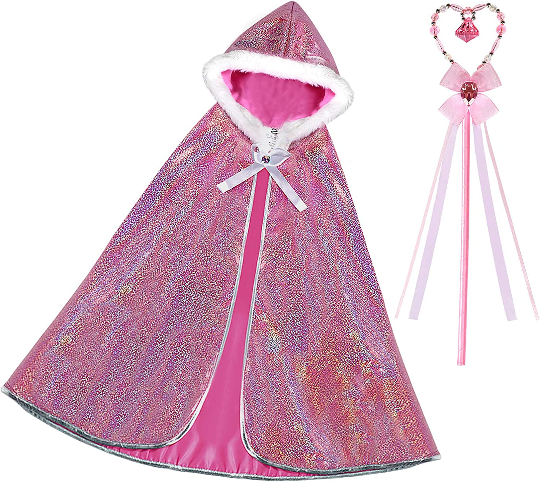 Latocos Princesa Aurora Capa Disfraz Niña Princesa Capucha con ...