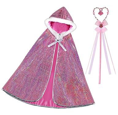 Latocos Princesa Aurora Capa Disfraz Niña Princesa Capucha ...