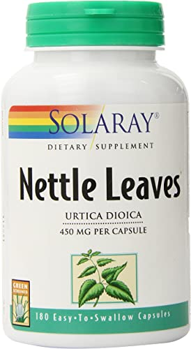 Solaray Nettle Leaf 450mg Vegan, Non-GMO 180 VegCaps