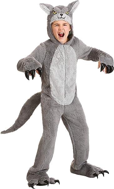 Fun Costumes Disfraz de lobo gris para niños - Gris - Small ...