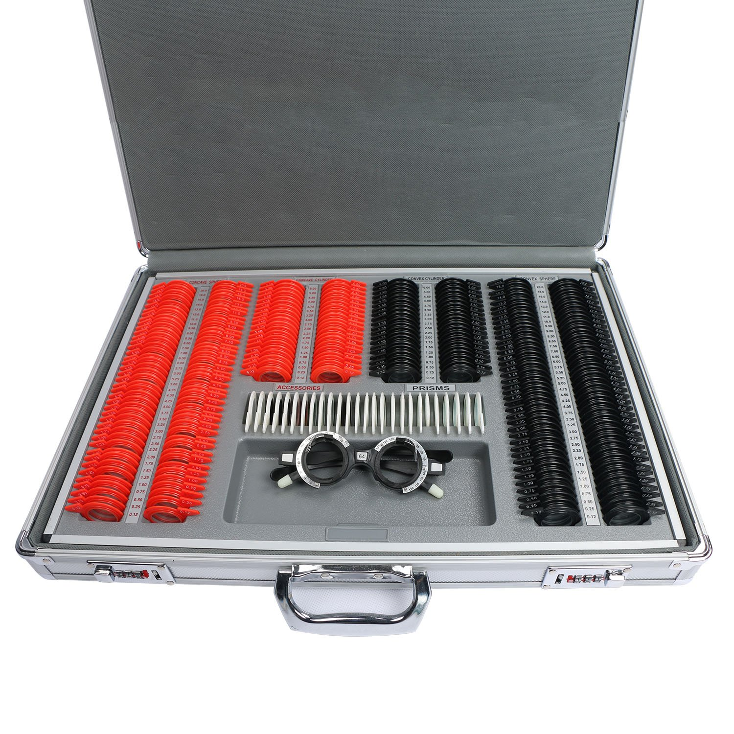 266 pcs Optical Trial Lens Set Plastic Rim Aluminium Case + Free Trial Frame