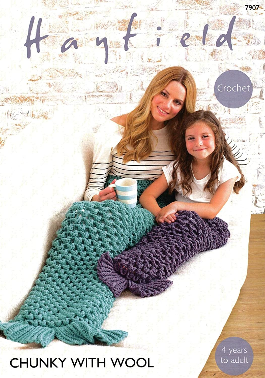 Sirdar 7907 Crochet Pattern Mermaid Tails in Hayfield Chunky with ...