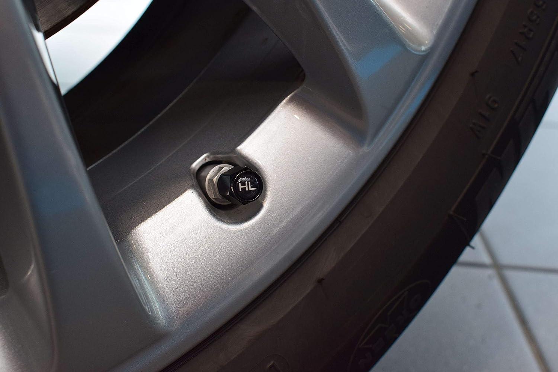 Schwarz gratis Diebstahlsicherung Auto Universal inkl JK Trade/® NEU 8X Aluminium Ventilkappen aus rostfreiem Aluminium mit Dichtung zur Reifenmarkierung f/ür Winter- /& Sommerreifen KFZ-Zubeh/ör