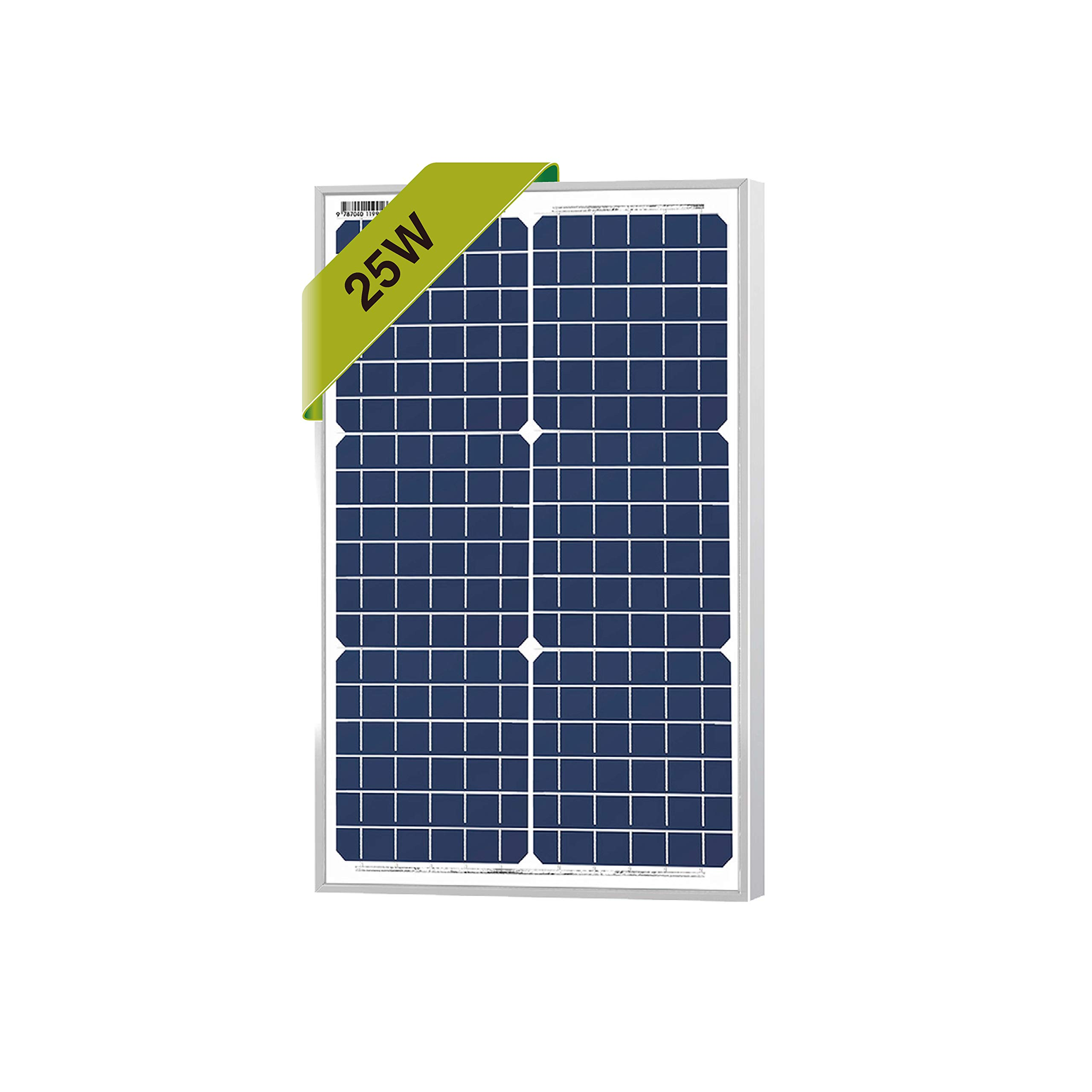25 Watts Monocrystalline Newpowa 12v Mono Solar Panel Module 20W < 25W < 30W Rv Marine Boat Off Grid by Newpowa