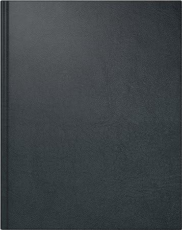 rido/idé 702407490 Buchkalender Managerkalender TM, 2 Seiten = 1 Woche, 205 x 260 mm, Kunstleder-Einband Belnova schwarz, Kalendarium  2019